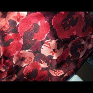 Louis Vuitton Floral Scarf
